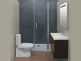 Mampara de baño sin guia 4