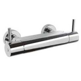 Grifo de ducha con palanca de giro para temperatura