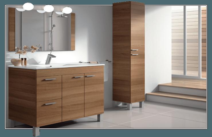 Mueble columna almacenaje baño