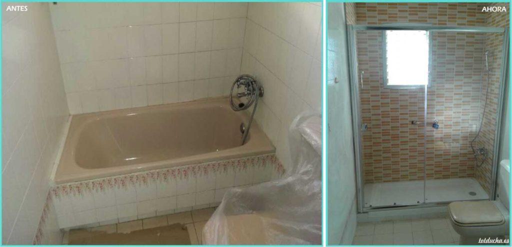 Cambio de bañera por plato