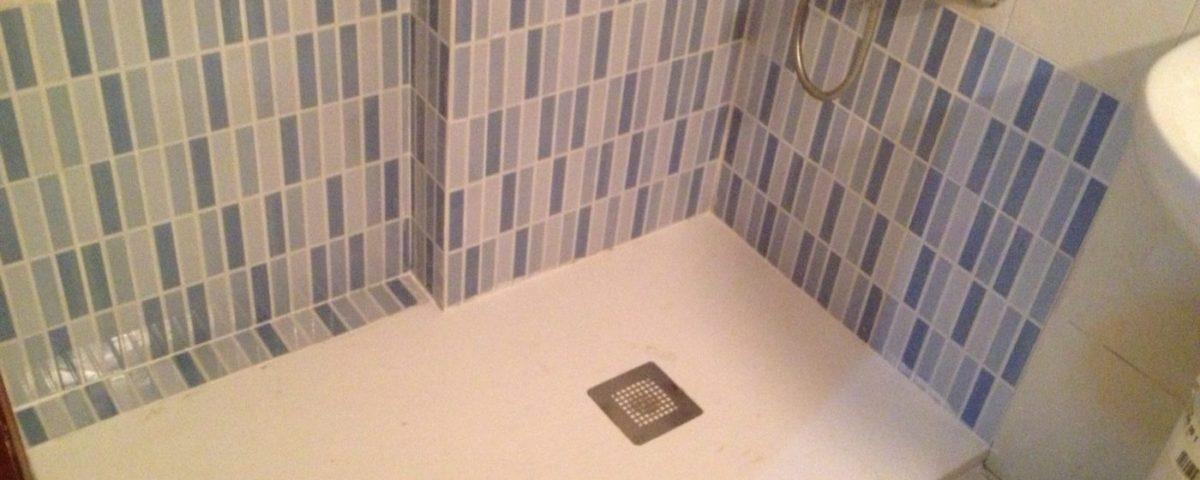 Plato de ducha recortado