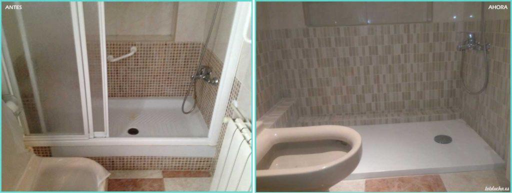Plato de ducha con tuberías ocultas