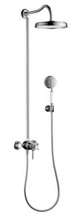 Rociador de ducha redondo 2 duchas con monomando