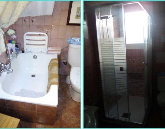 antes y después cambio bañera por ducha