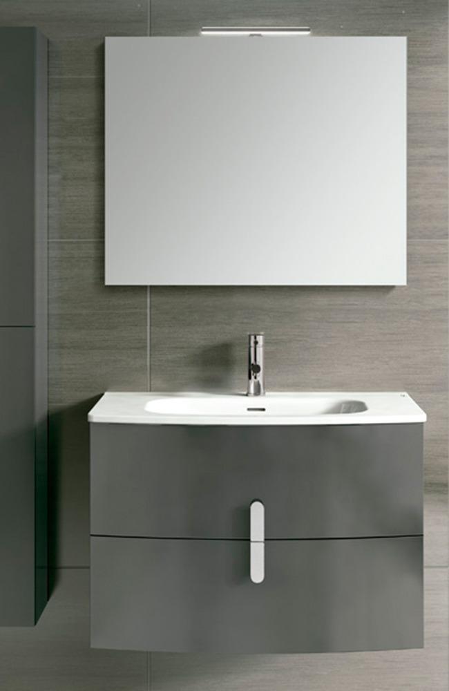 Mueble baño para colgar gris