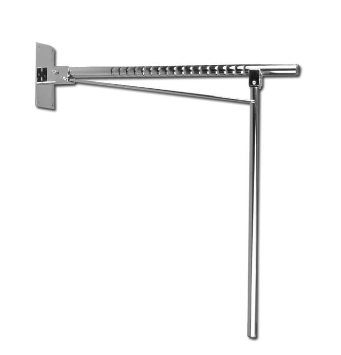 barra de seguridad plegable recta con apoyo a suelo