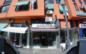 Fachada de la tienda TotDucha en Carcaixent