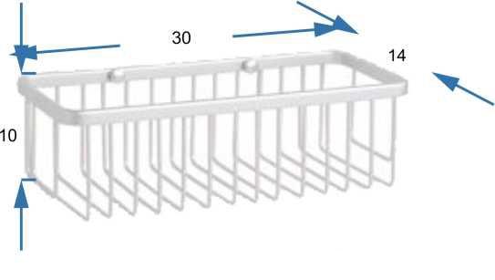 jabonera de ducha rectangular de aluminio