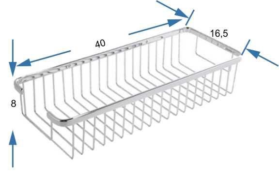 jabonera rectangular cromada