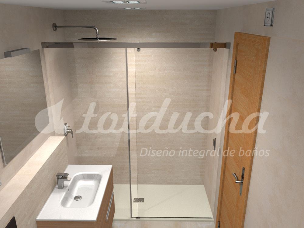 proyecto 3D reforma de baño Totducha